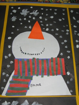 Image result for snowmen at night art projects