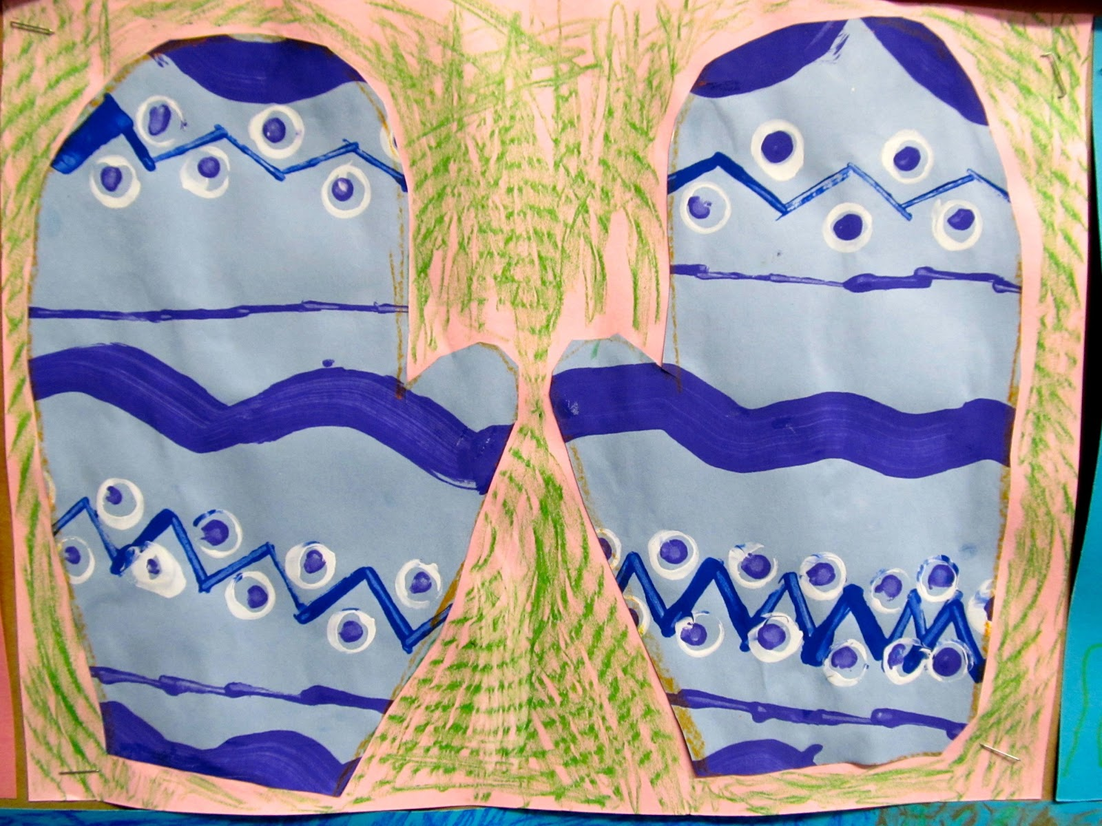 Image result for mitten tree art lessons